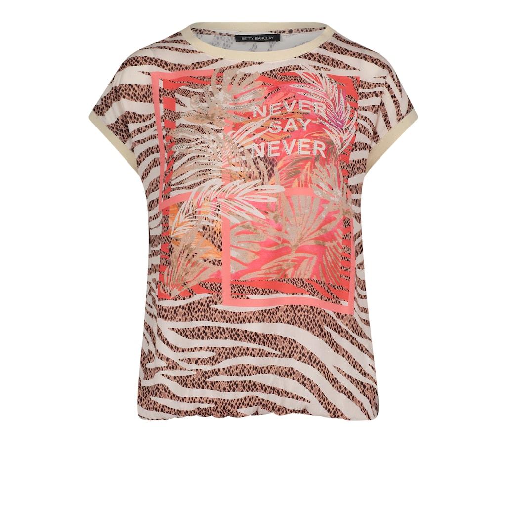 Betty Barclay Kurzarmshirt »mit Animalprint«