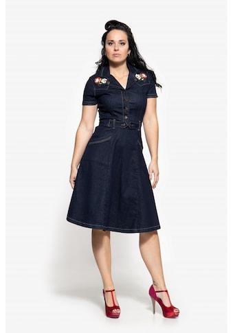 QueenKerosin Jeanskleid, mit Stickereien kaufen