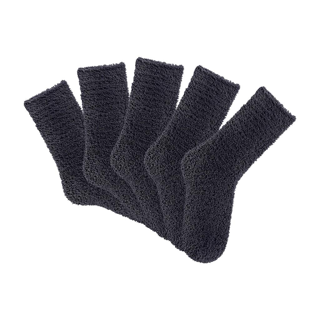 Lavana Kuschelsocken, (5 Paar), ideal als Hausschuhersatz