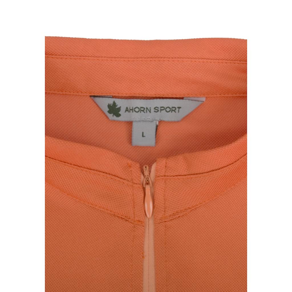 AHORN SPORTSWEAR Funktions Zip-Shirt mit kleinem Stehkragen