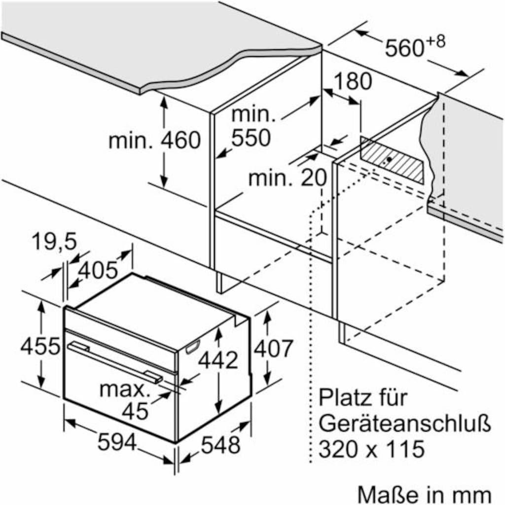 SIEMENS Backofen mit Mikrowelle »CM676G0S1«, CM676G0S1, Pyrolyse-Selbstreinigung, Pyrolyse-Selbstreinigung