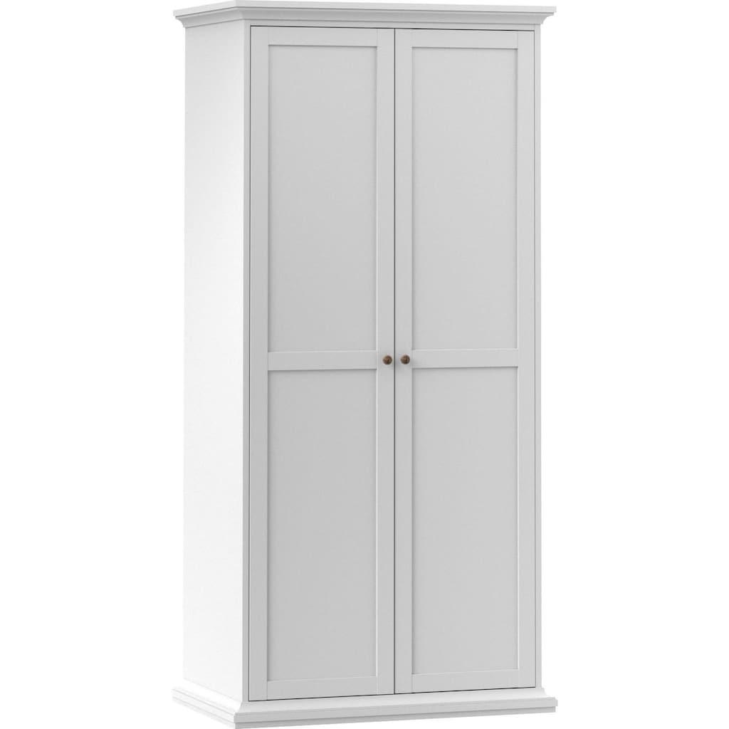 Home affaire Drehtürenschrank »Paris«, im romatischen Landhaus-Stil und schönem Holzfurnier, Höhe 200,5 cm