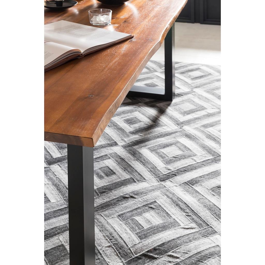 SalesFever Baumkantentisch, Sichtbare Maserung und Astlöcher, Esstisch aus Massivholz