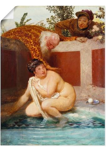 Artland Wandbild »Susanna im Bade. 1888«, Frau, (1 St.), in vielen Größen &... kaufen