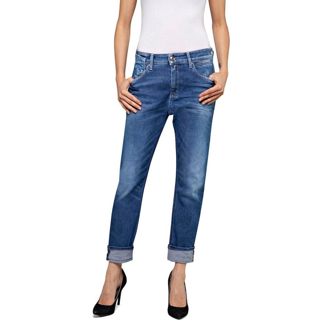 Replay Destroyed-Jeans »MARTY«, im 5-Pocket-Style mit Sitzfalten-Effekten