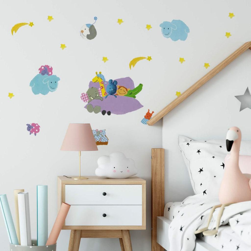 Wall-Art Wandtattoo »Gute Nacht Wolken KiKANiNCHEN«