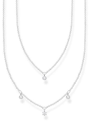 THOMAS SABO Kette mit Anhänger »weiße Steine, KE2078-051-14-L45v«, mit Zirkonia kaufen