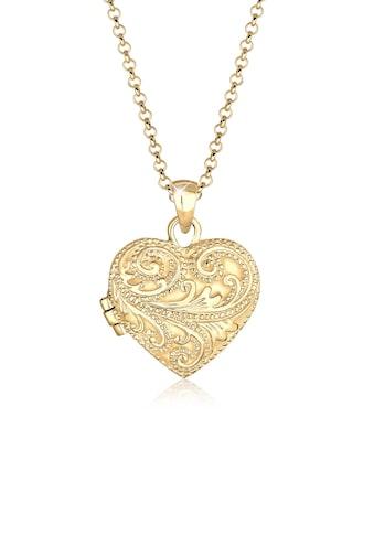 Elli Collierkettchen »Herz Ornament Amulett Medaillon Liebe 925 Silber« kaufen