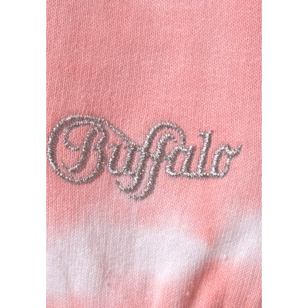 Buffalo Sweatshirt, mit Batikmuster