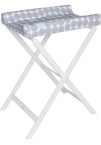 Geuther Wickeltisch »Trixi weiß, graue Punkte«, bis 11 kg, mit Wickelauflage -... kaufen