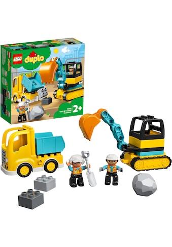 LEGO® Konstruktionsspielsteine »Bagger und Laster (10931), LEGO® DUPLO® Town«, (20 St.) kaufen