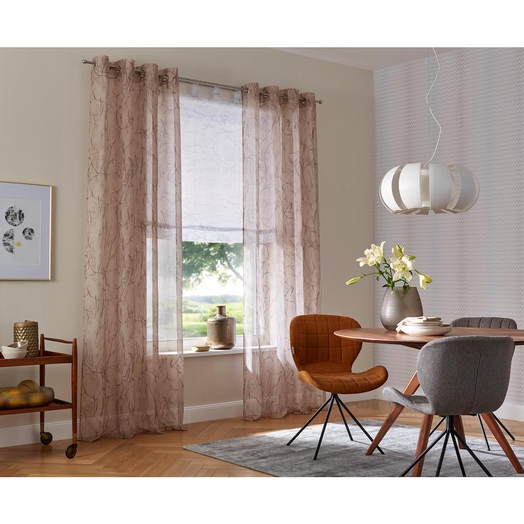my home Raffrollo »Bamian«, mit Schlaufen