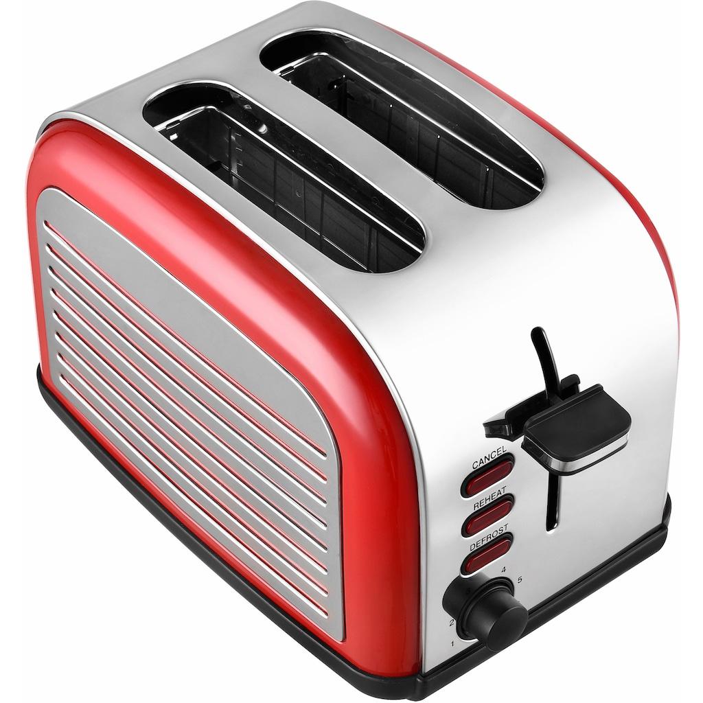 Team Kalorik Toaster »TKG TO 2500 R«, 2 kurze Schlitze, für 2 Scheiben, 1050 W