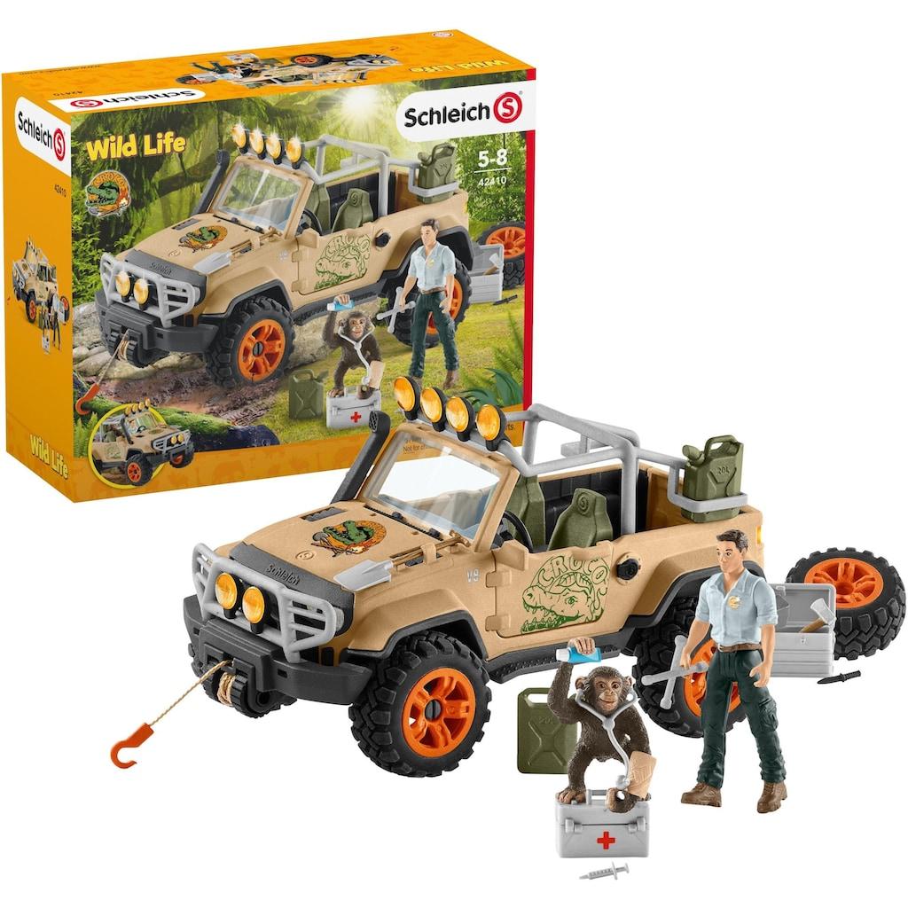 Schleich® Spielzeug-Auto »Wild Life, Geländewagen mit Seilwinde (42410)«