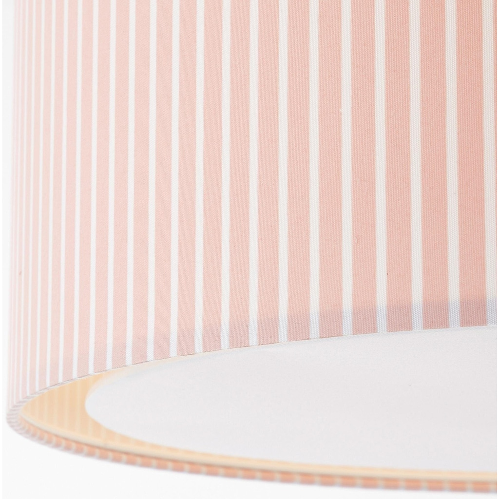 Lüttenhütt Deckenleuchte »Striepe«, E27, Deckenlampe mit Streifen - Stoffschirm Ø 40 cm, rosa / weiß gestreift, Höhe 32 cm