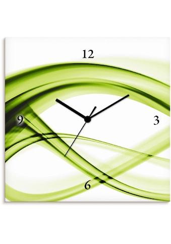 Artland Wanduhr »Abstrakte Komposition (grün)«, lautlos, ohne Tickgeräusche, nicht... kaufen