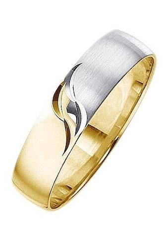 Firetti Trauring mit Gravur »5,0 mm, matt, glanz, mit Diamantschnitt, bicolor« kaufen