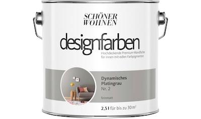 SCHÖNER WOHNEN FARBE Farbe »Designfarben«, Dynamisches Platingrau Nr. 2, feinmatt 2,5 l kaufen