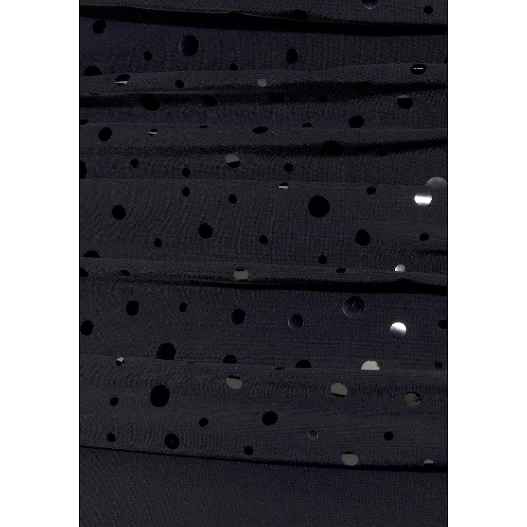 LASCANA Badeanzug, mit Pailletten-Optik und Shaping-Effekt