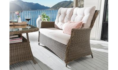 DESTINY Loungesofa »Casa«, 2er - Sitzer, Polyrattan, inkl. Auflagen kaufen