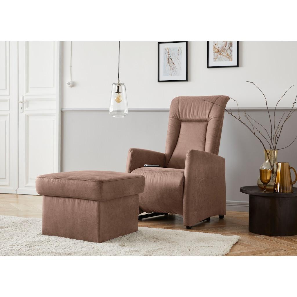 """sit&more Stauraumhocker »Melissa«, mit Stauraum, klassisches Design, optional in dem besonders leicht mit Wasser zu reinigendem """"Soft clean"""" Bezug"""