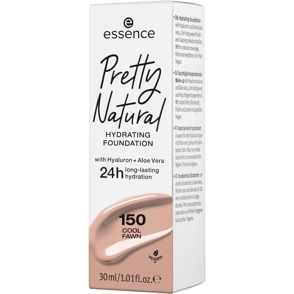 Essence Foundation »Pretty Natural HYDRATING«, (Set, 3 tlg.)