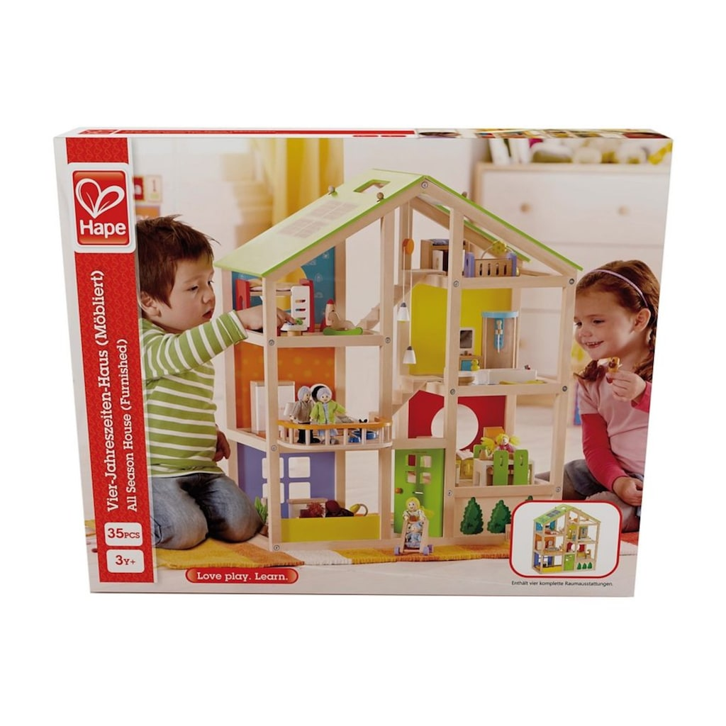 Hape Puppenhaus »Vierjahreszeiten«, inkl. Puppenmöbel