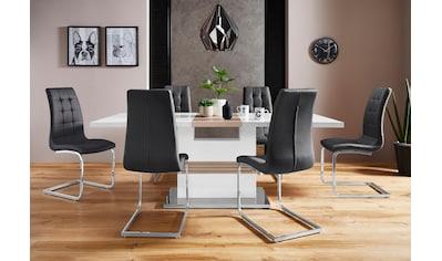 Essgruppe »Perez/Lola«, (Set, 5 tlg.), mit 4 Stühlen, Tisch ausziehbar, Breite 160-200 cm kaufen