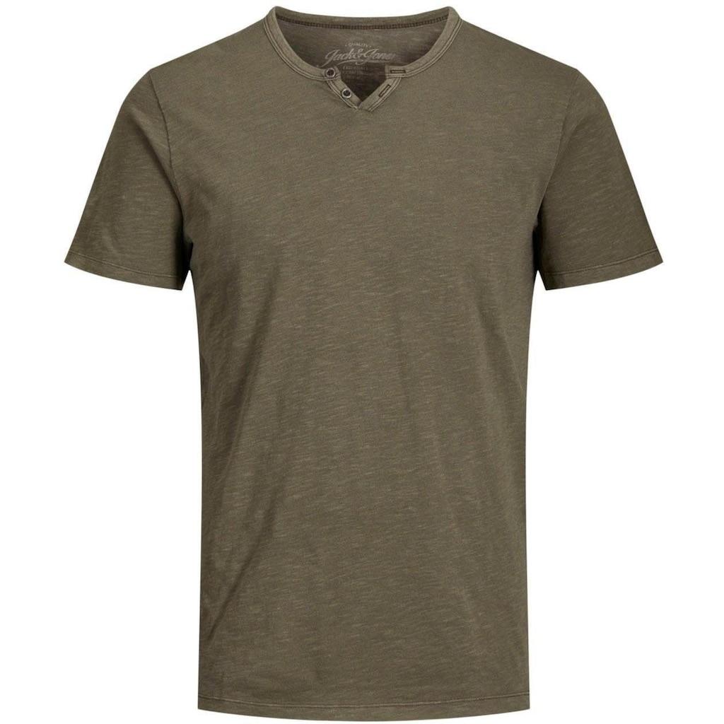 Jack & Jones V-Shirt »Split V Neck Shirt«, bis Größe 6XL