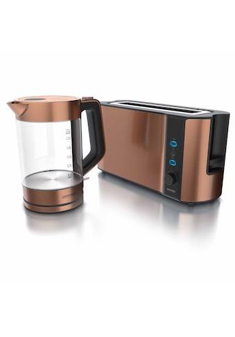 Arendo Frühstücks-Set »Wasserkocher / Toaster«, 2-teilig in Kupfer Optik kaufen