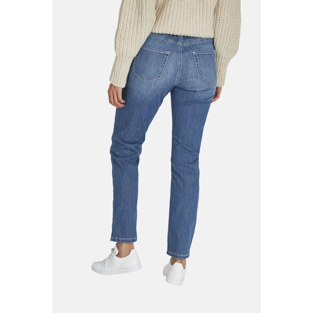 ANGELS Jeans 'Tama' mit unifarbenem Stoff aus weichem Denim