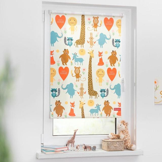 Seitenzugrollo »Klemmfix Digital Cute Animals«, LICHTBLICK, verdunkelnd, ohne Bohren, freihängend