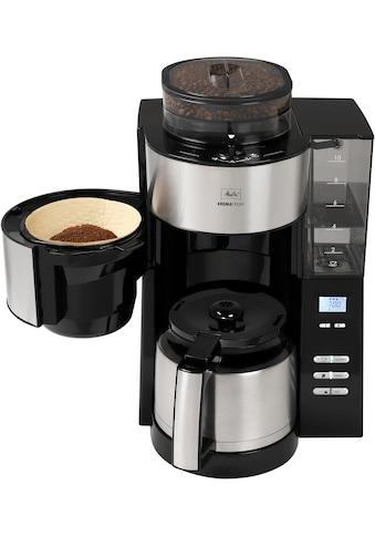 Melitta Kaffeemaschine mit Mahlwerk AromaFresh Therm 1021 - 12 schwarz, Papierfilter 1x4 kaufen