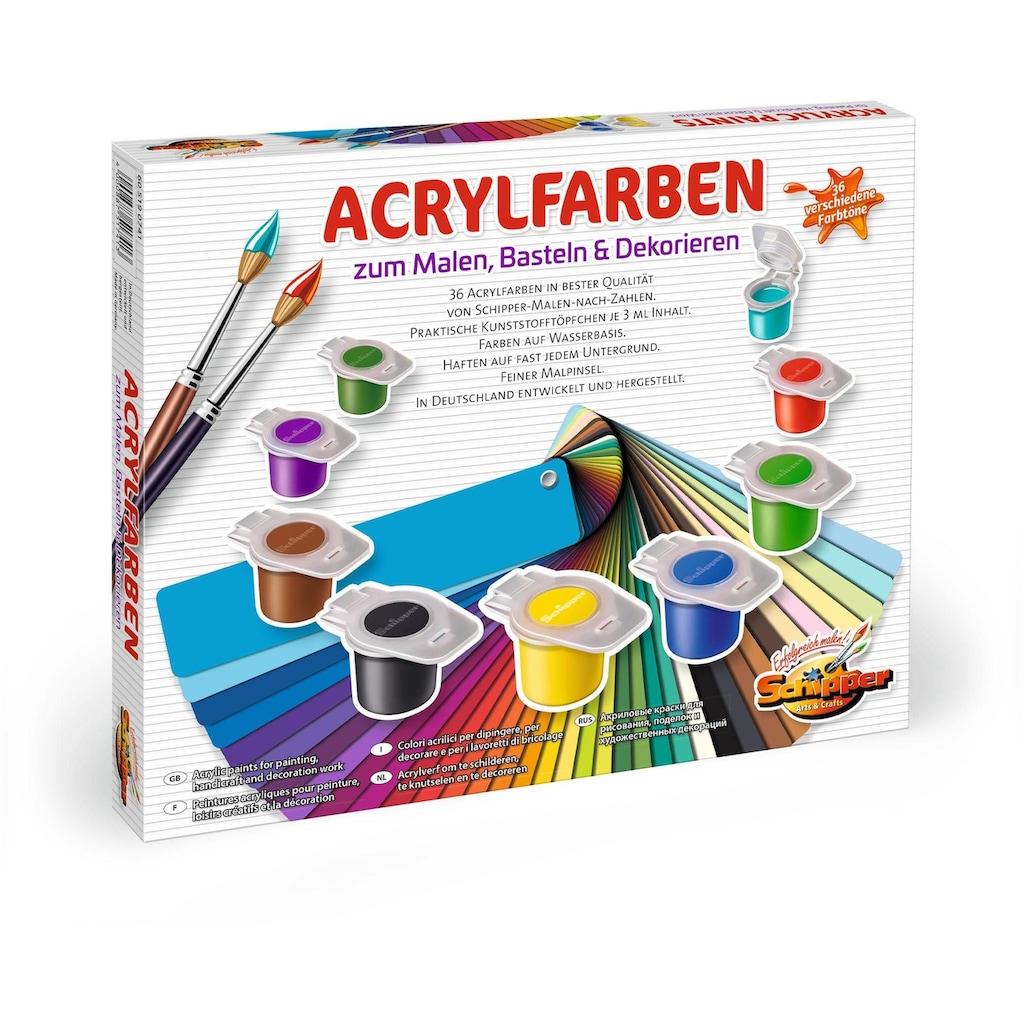 Schipper Malen nach Zahlen »Malen nach Zahlen - 36 Acrylfarben«, Made in Germany