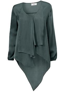 heine STYLE kragenlose Bluse mit verlängertem Rückteil kaufen 0f03fed02e