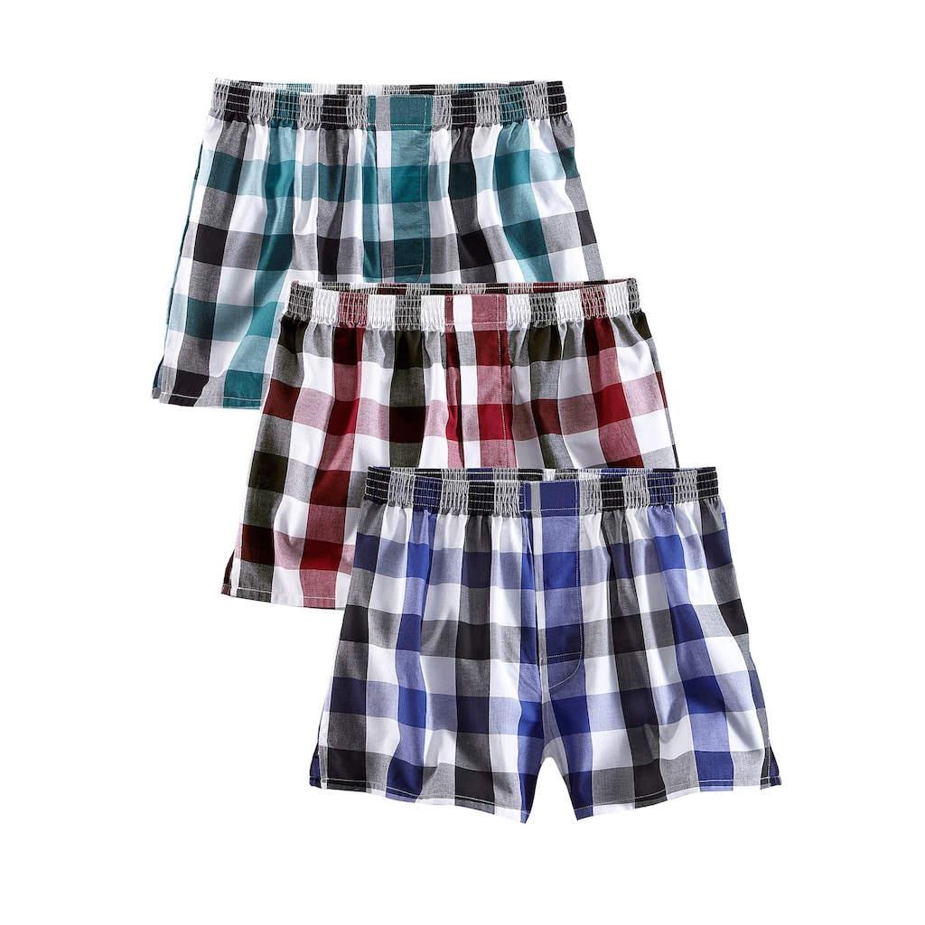 le jogger® Boxershorts, (3 St.), lässiger Style in bequemer Passform