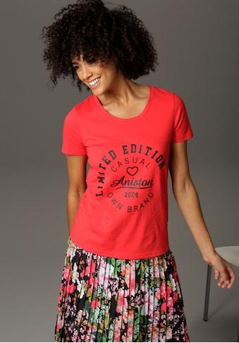 Aniston CASUAL T-Shirt, mit Schriftzug im Vorderteil - NEUE KOLLEKTION kaufen
