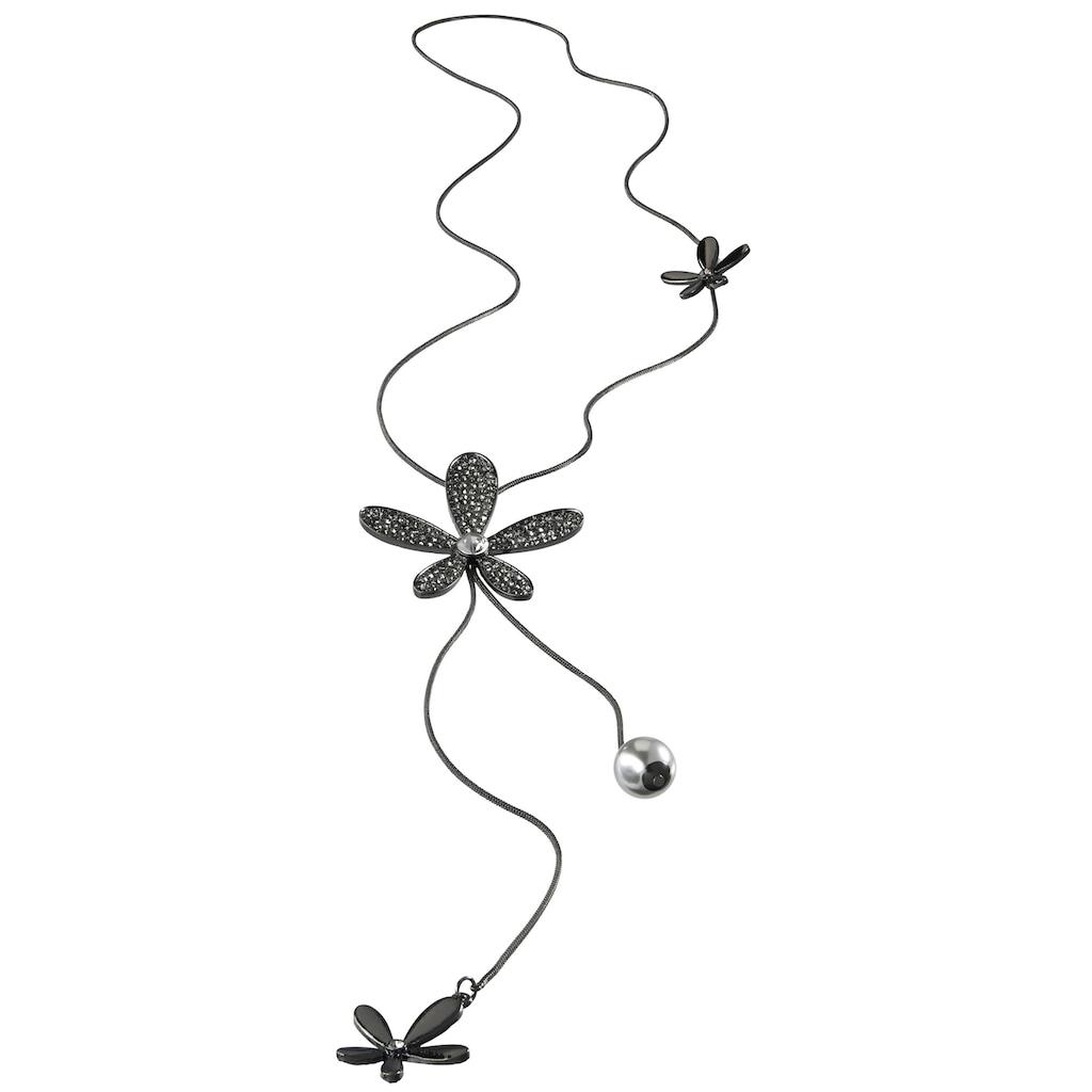 Kette mit Blütenapplikation