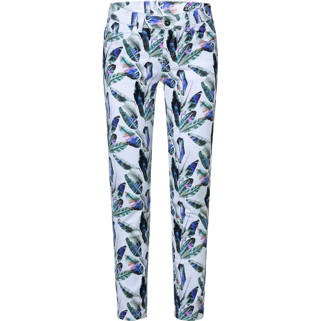 SOCCX 5-Pocket-Jeans »MI:RA«, mit Allover Blätter-Druck