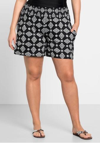 Sheego Shorts, mit Smokbund und zwei Taschen kaufen