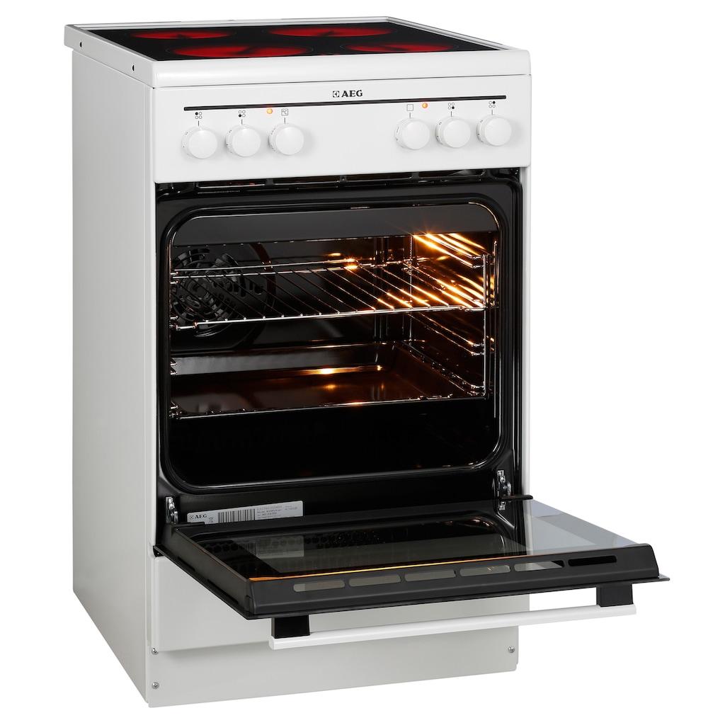 AEG Elektro-Standherd »40095VA-WN/COMPETENCE«, 40095VA-WN, mit Grillfunktion