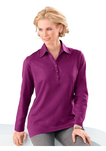 Classic Basic Poloshirt in aktueller Rippoptik kaufen