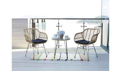 Homexperts Balkonset »Ylvi«, (5 tlg.), inklusive Sitzkissen und Beistelltisch, 2 Stühle mit Beistelltisch kaufen
