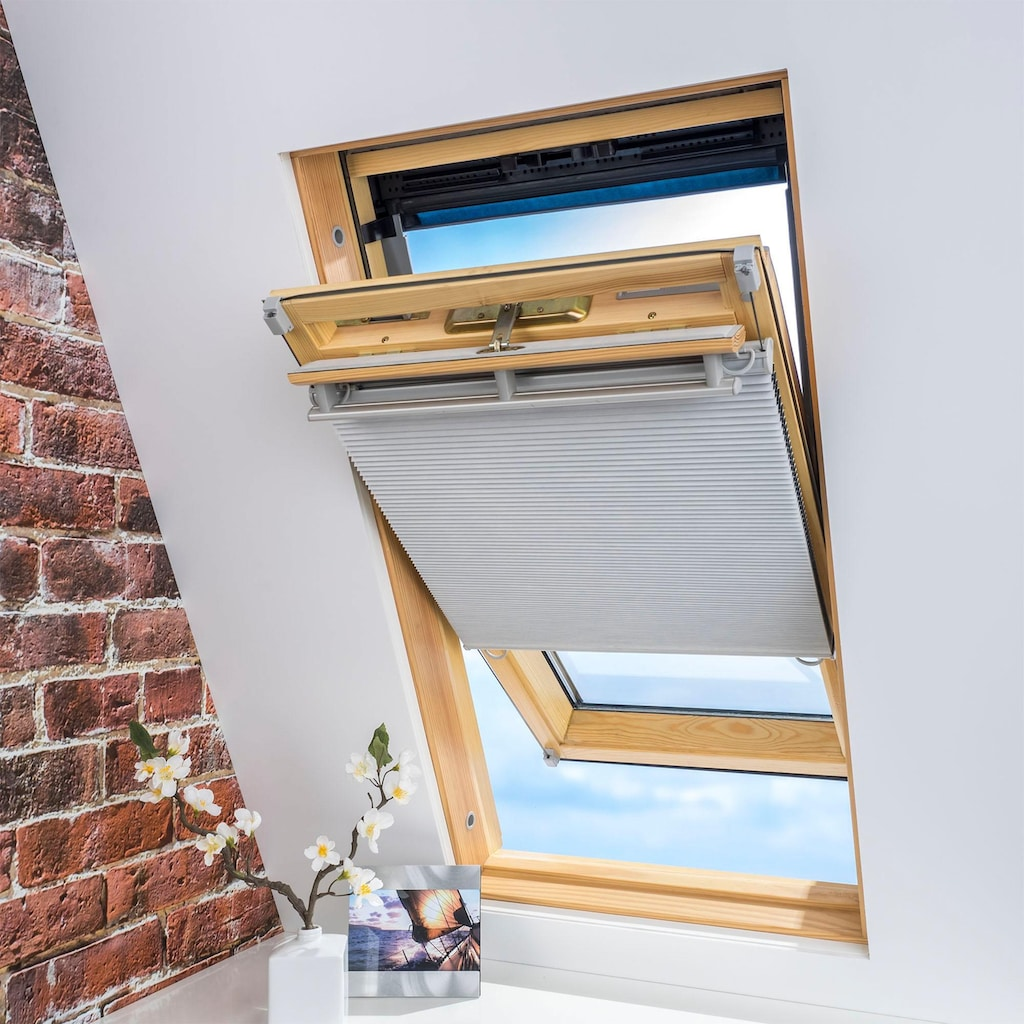 Liedeco Dachfensterplissee »Universal Dachfenster-Plissee«, Fixmaß