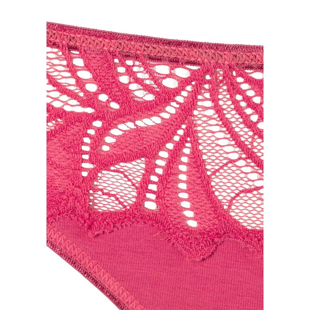 Vivance Bikinislip, (5 St.), mit floraler Spitze vorn