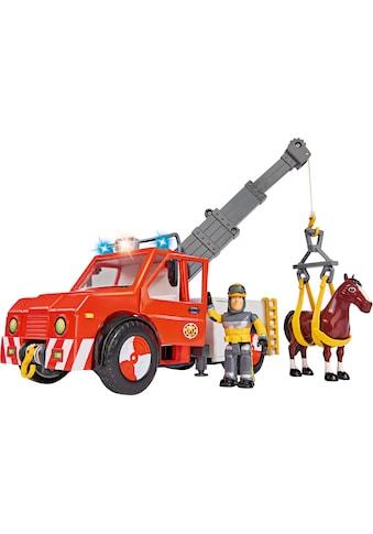 """SIMBA Spielzeug - Kran """"Feuerwehrmann Sam, Phoenix mit Figur, Pferd und Blaulicht"""" kaufen"""