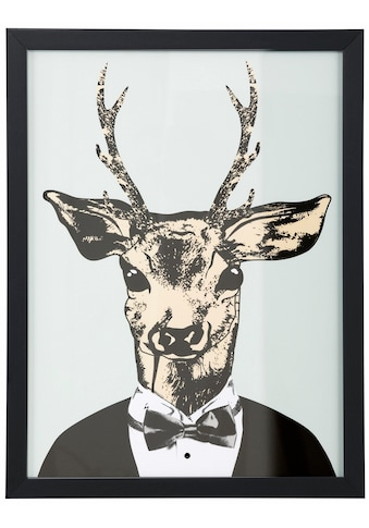 Home affaire Kunstdruck »Reh in elegantem Anzug« kaufen