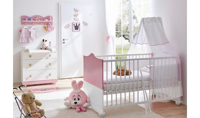 Ticaa Babymöbel-Set »Prinz/Prinzessin«, (Set, 3 St.), Bett + Wickelkommode + Wandregal kaufen