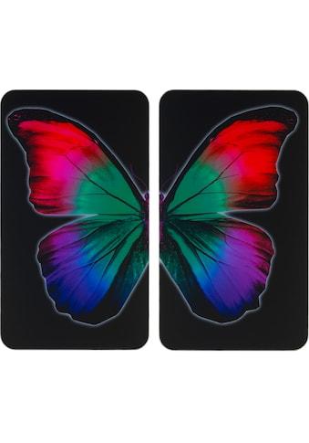 WENKO Herd-Abdeckplatte »Universal Butterfly by Night«, (Set, 2 tlg.) kaufen
