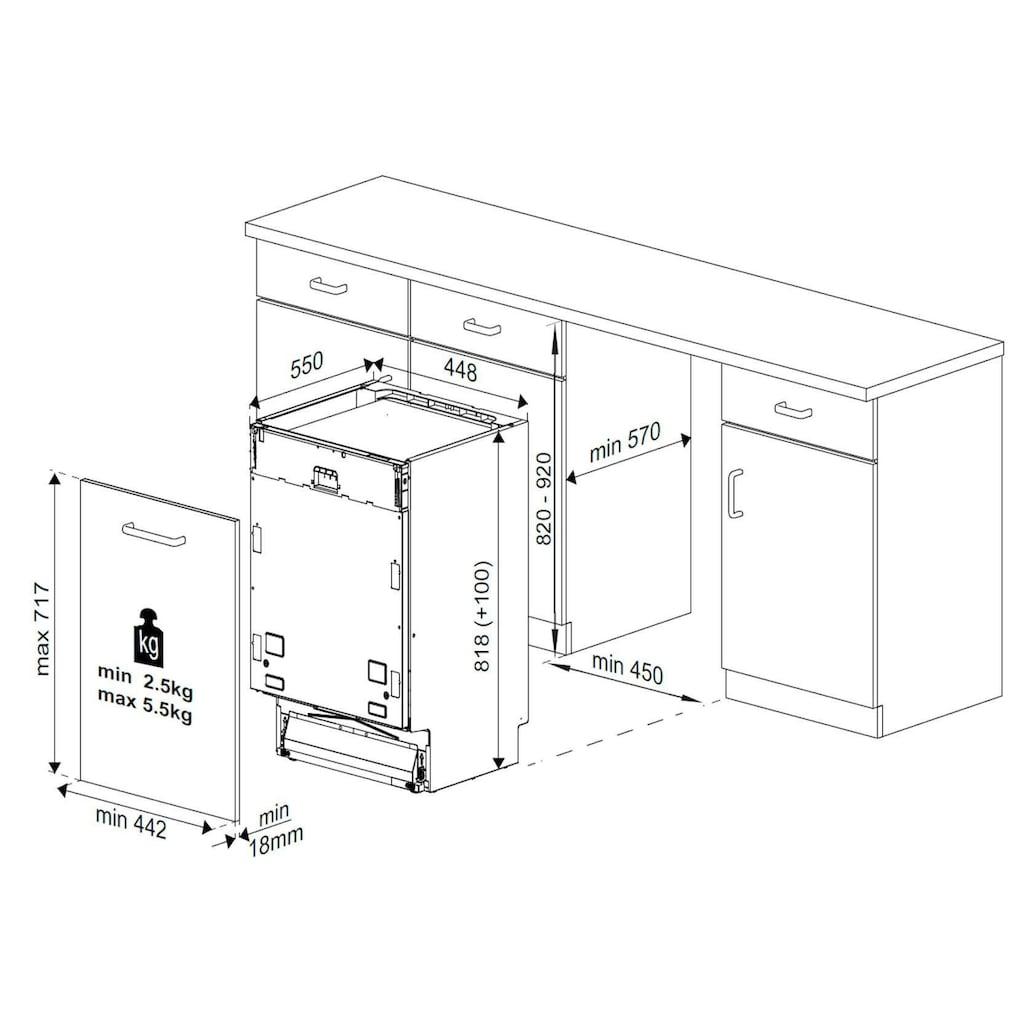 BEKO vollintegrierbarer Geschirrspüler »DIS16015«, DIS16015, 10,5 l, 10 Maßgedecke, mit WaterSafe+